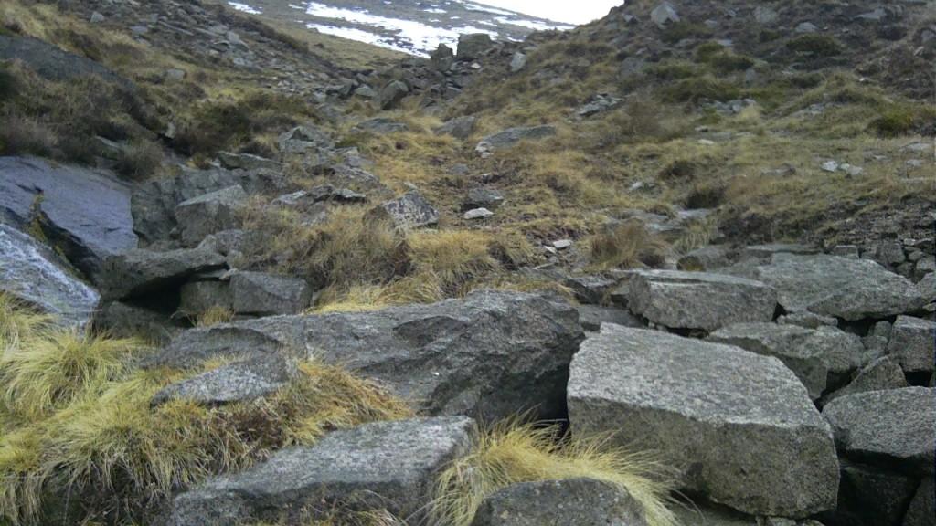The quarry on Binnian