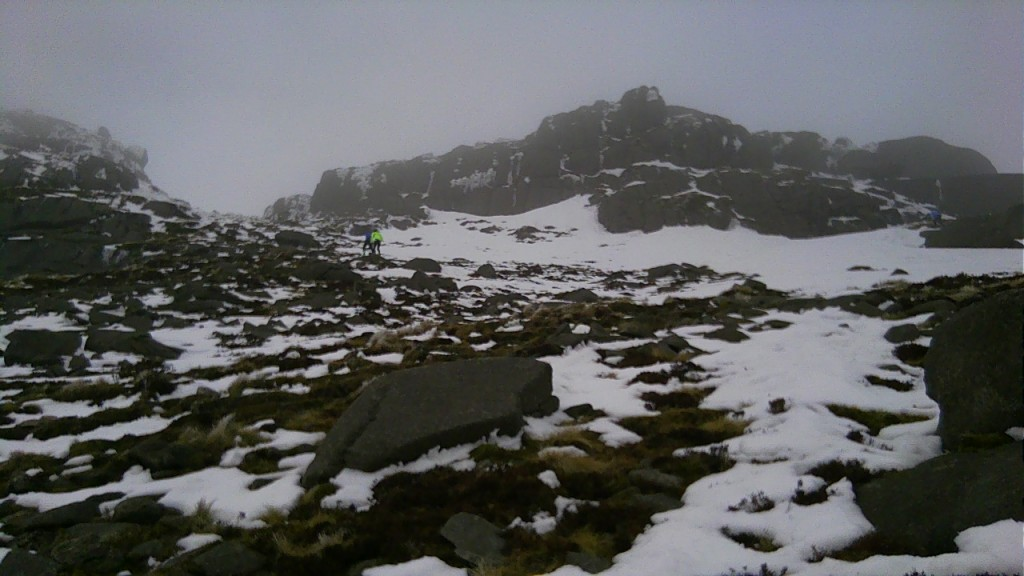 Going to the summit tor on Binnian