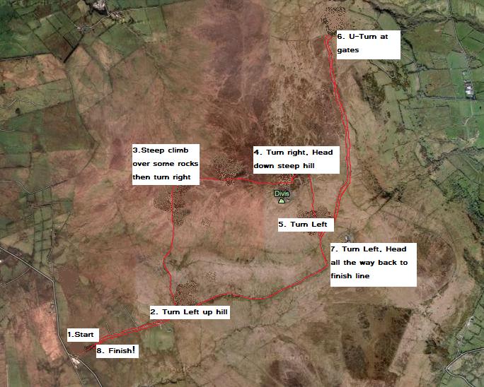 Divis 10K Route Map
