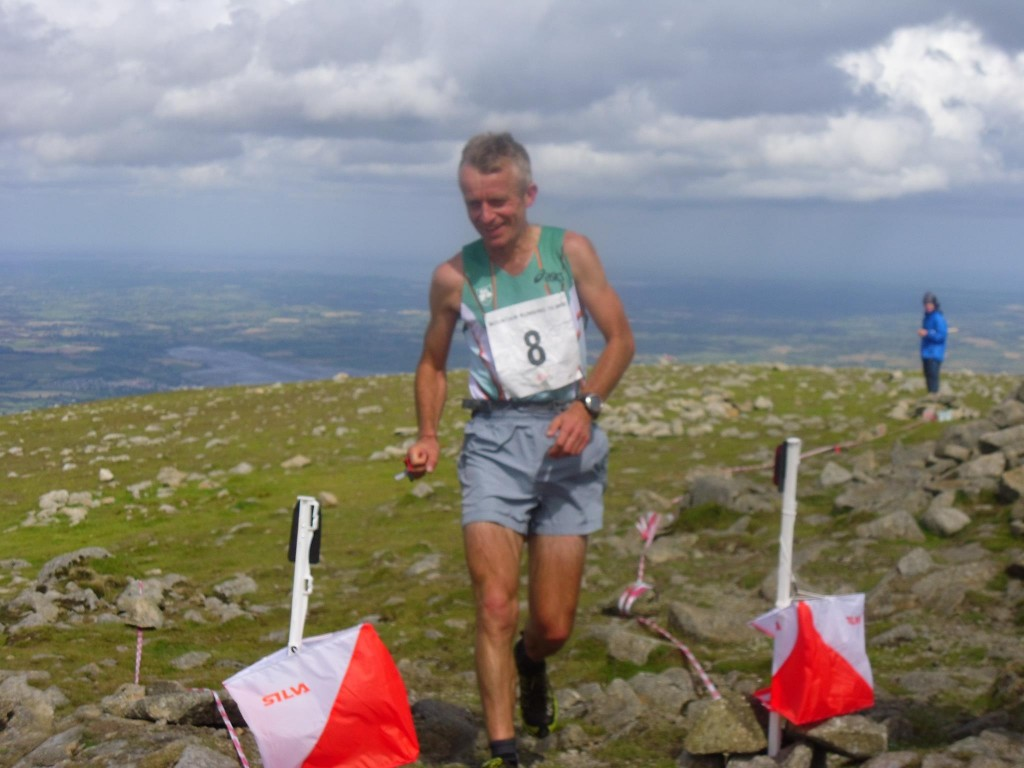 Robbie Bryson leads over Donard summit