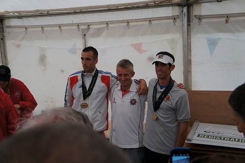 Top 3 men in mountain race