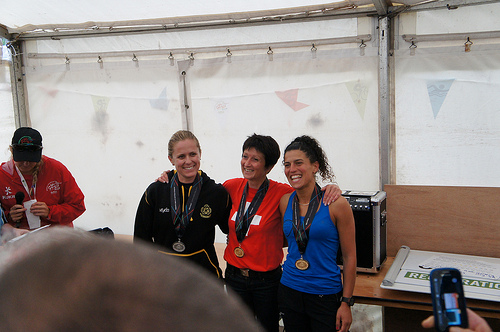 Top 3 women in mountain race