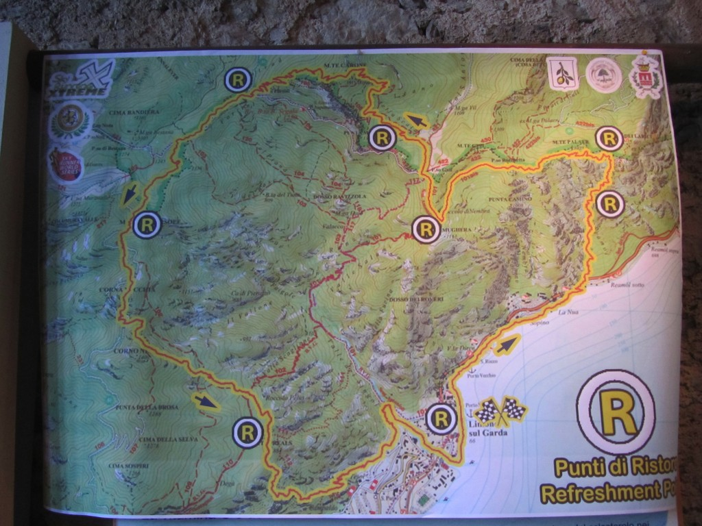 The Skyrace route map