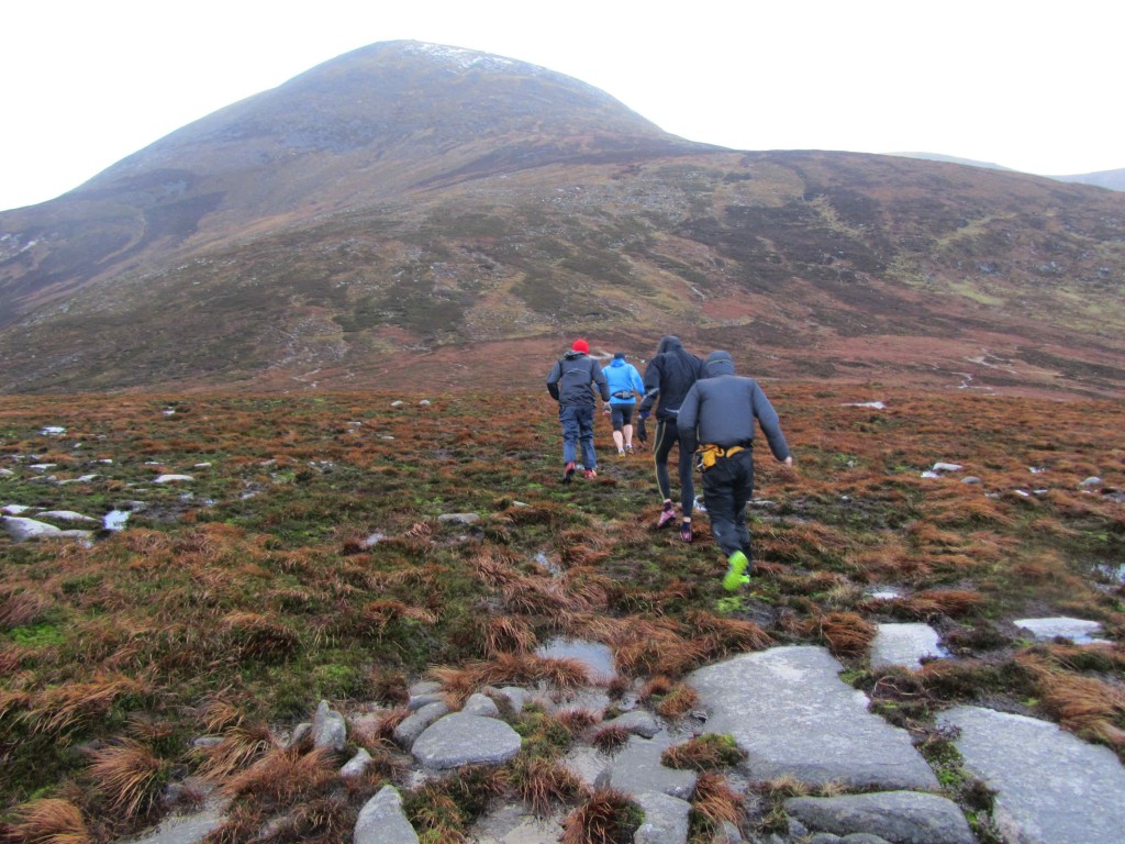 Running from Millstone towards Donard