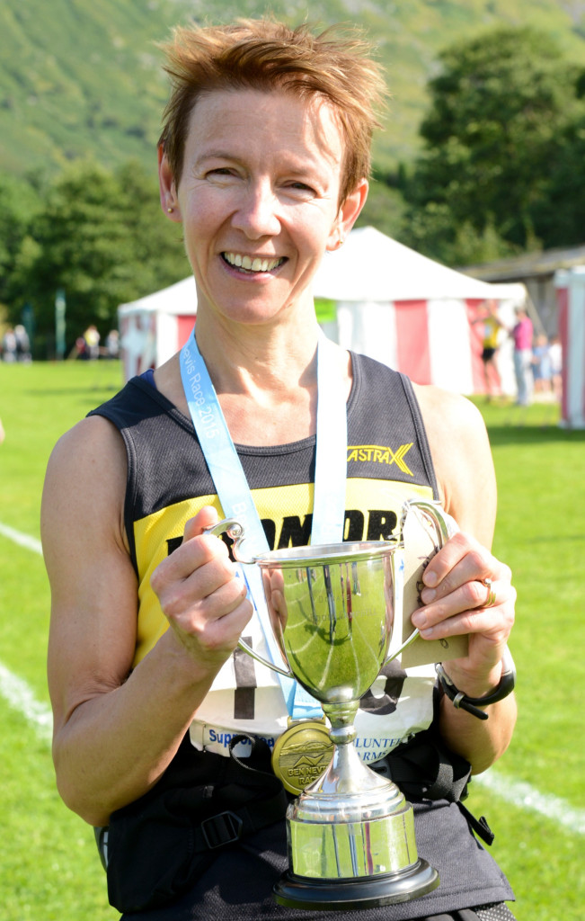 Diane Wilson of Dromore a.c  County Down is 2015 Womans winner of the Ben Nevis Race.Picture by  Johnpaul Peebles The Write Image
