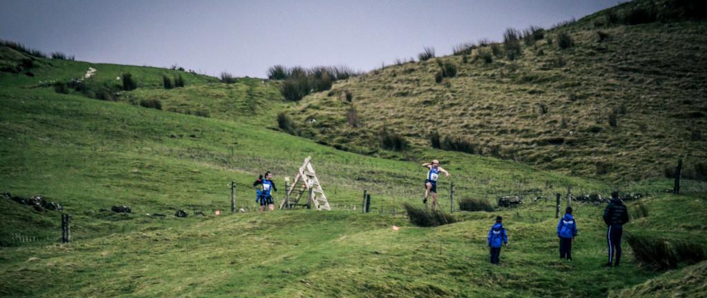 Sam says Noooooo as Dale executes a hurdle over the fence
